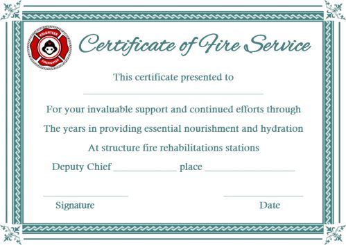 Fire Extinguisher Certificate Template 2 Templates Example Templates Example