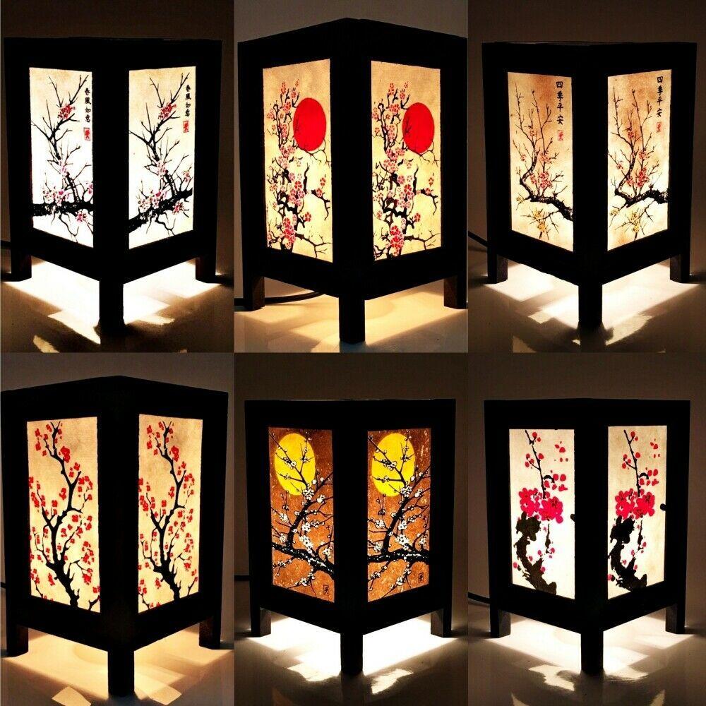 Asian Oriental Lamp Shades Japanese Sakura Cherry Blossom Thai