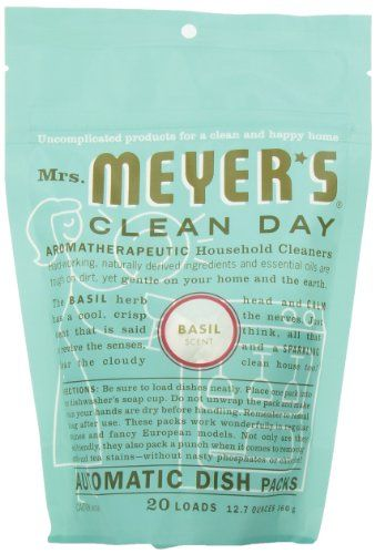 Mrs Meyer S Clean Day Auto Dishwashing Packs Basil 20 Count