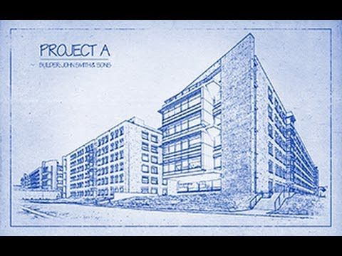 Architects blueprint drawing effect in photoshop blueprint architects blueprint drawing effect in photoshop malvernweather Image collections