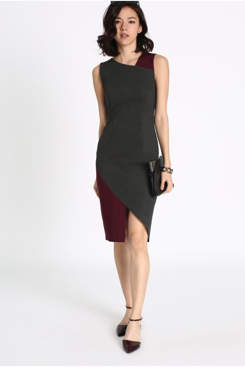 d0ab71307276 Oleja Contrast Asymmetrical Dress   best look,best style buys, best ...