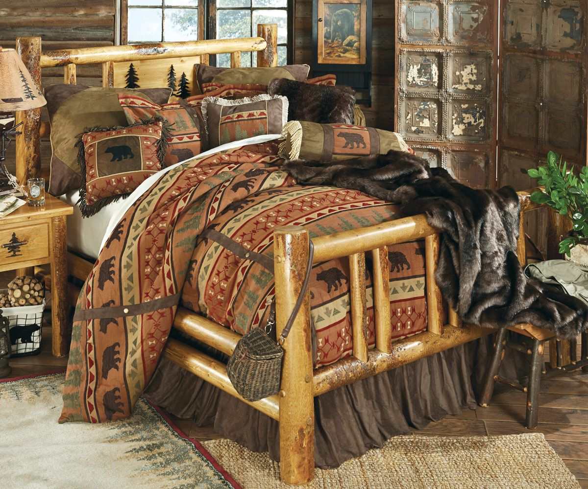 Rocky mountain log bed queen never forget pinterest logs