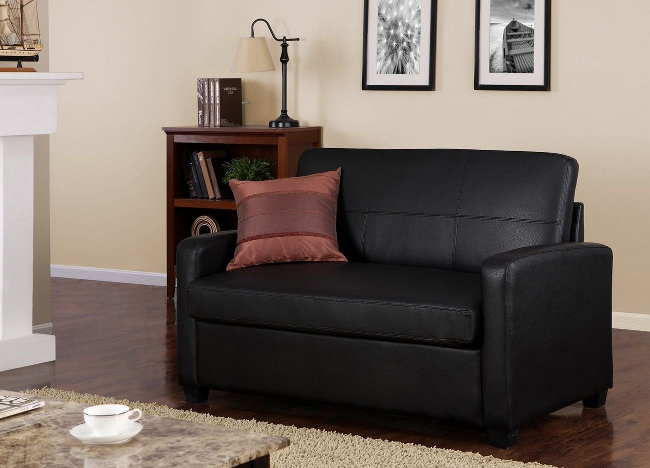 Black Faux Leather Sleeper Sofa Http Tmidb Com Pinterest