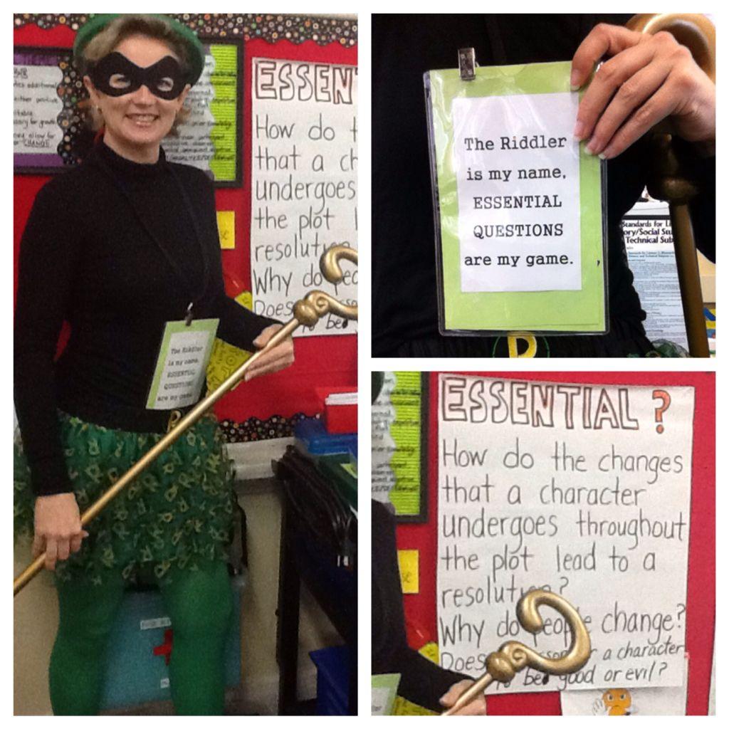 My Super Nerdy Riddler Teacher Costume On Halloween
