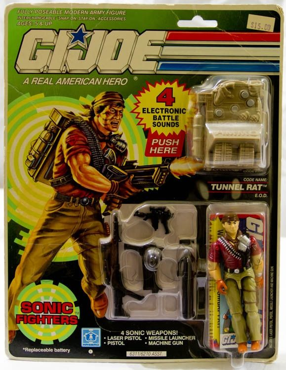 GI Joe Weapon Sonic Fighter Tunnel Rat Missile 1990 Original Figure Accessory