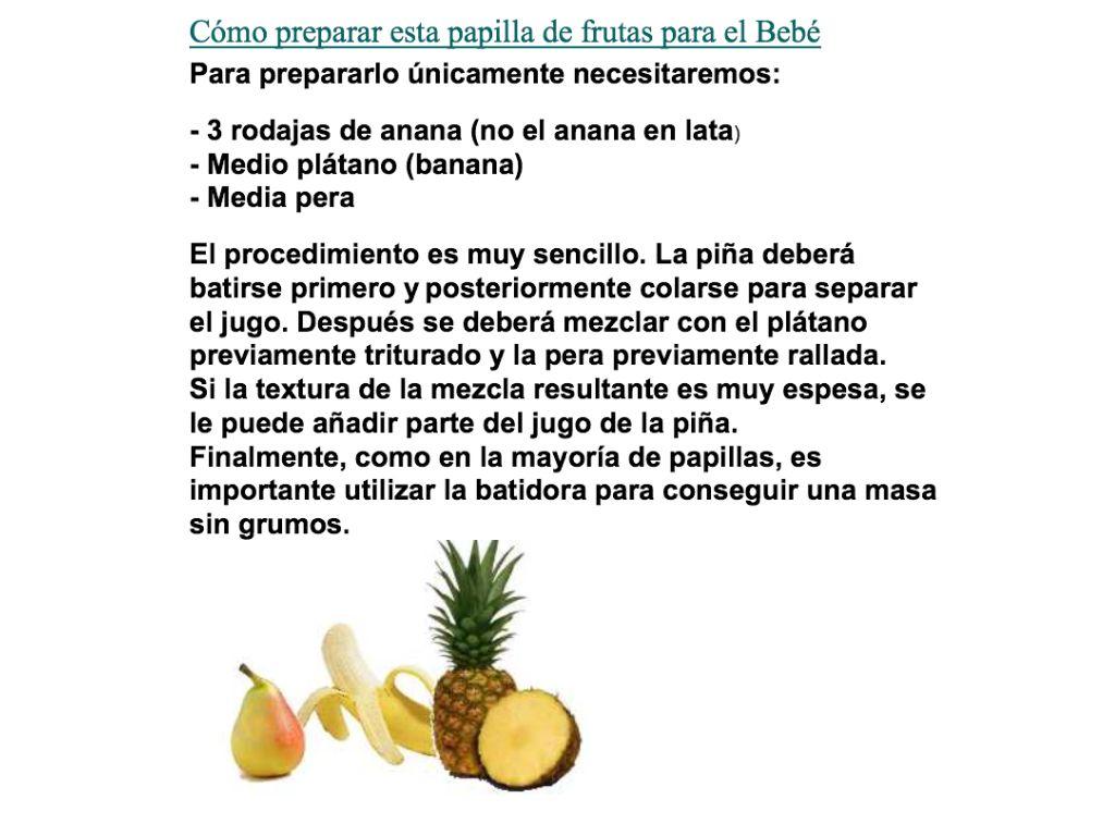 Papilla De Pera Banana Y Anana Para Bebes De 6 Meses En Adelante