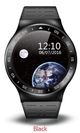 3グラムのandroid 5.1ラウンドsmart watch電話1.3 ghz mtk6580m 400 mahバッテリー360*360解像度1.33 oncell vs kw88 x01 dm98