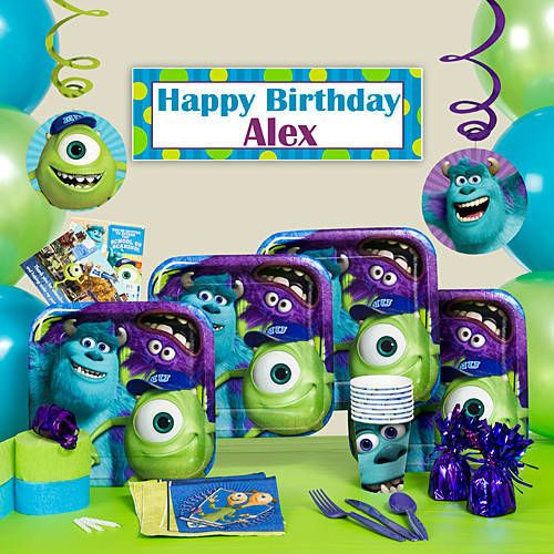 Monsters University Party Supplies Nathan 1st Birthday Pinterest