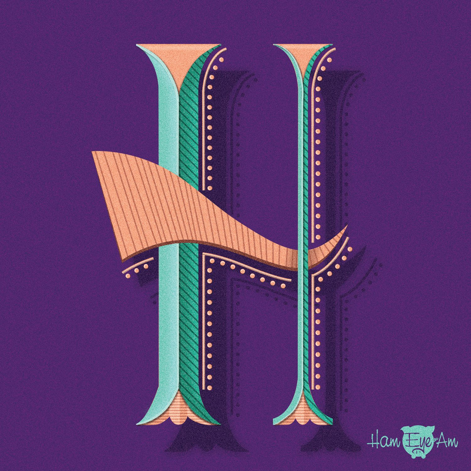 The Letter H Illustrated by Heather Marintez