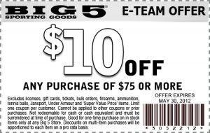 big 5 printable coupon 10 off 75 purchase