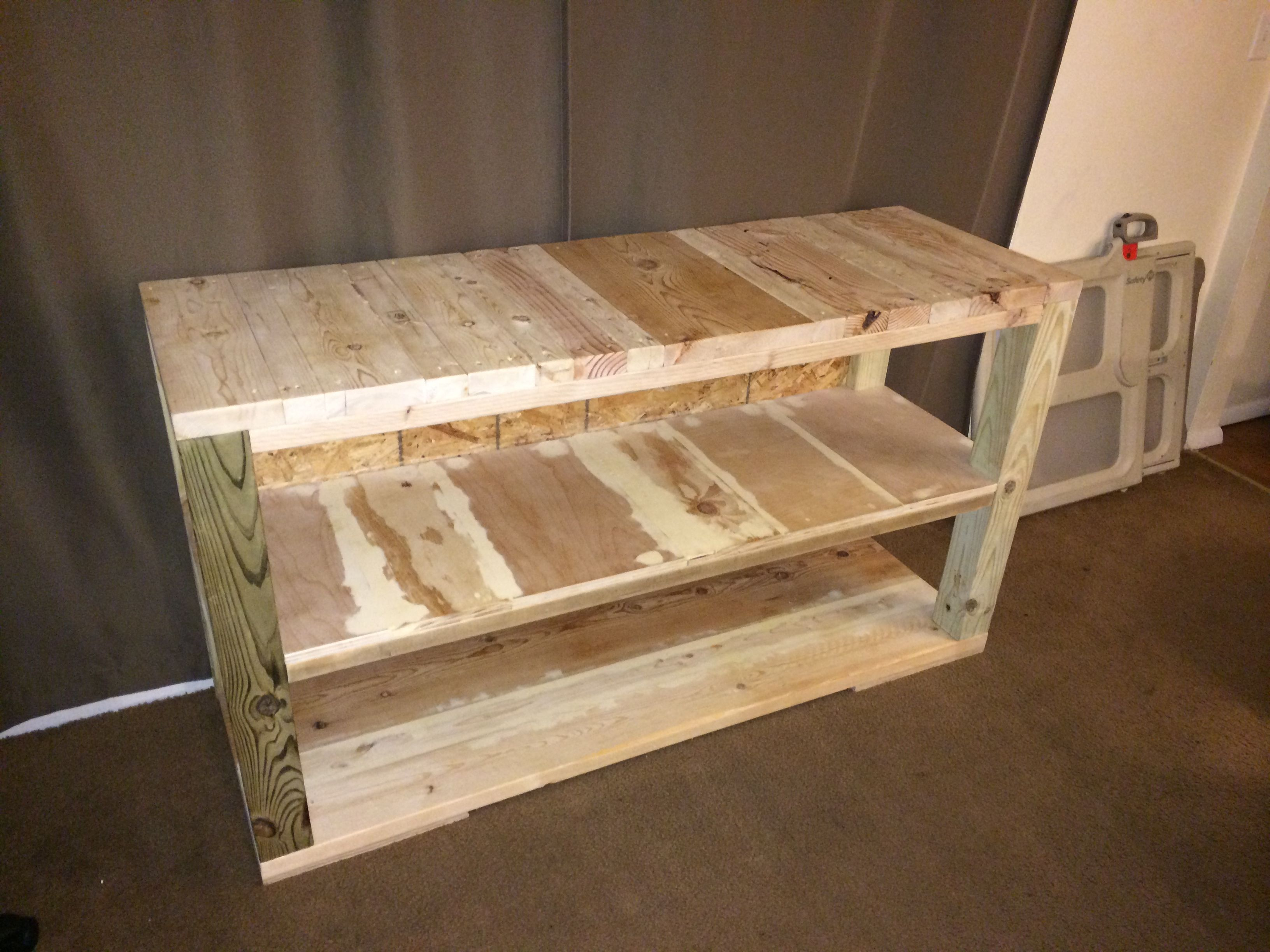 Plywood wood filler and sanding home