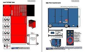 Garage Diorama And Accessories Seni Kertas Kertas Ide