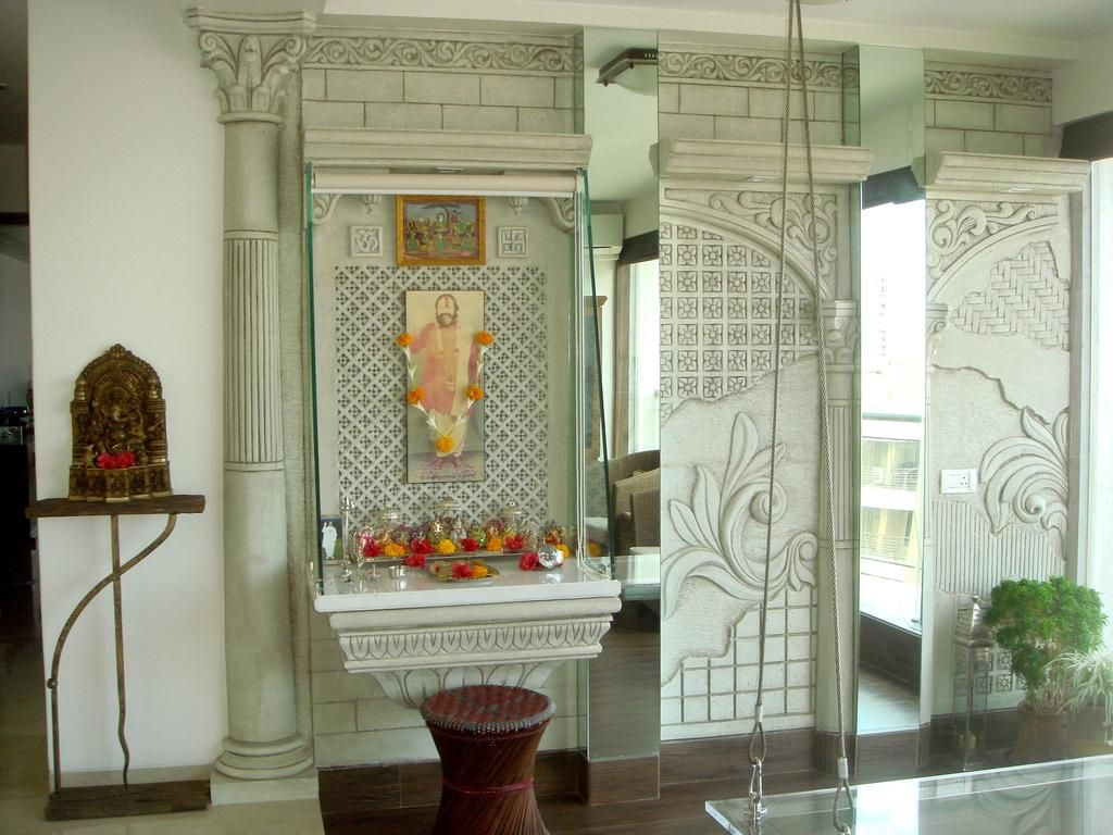 Mandir Designs In Living Room
