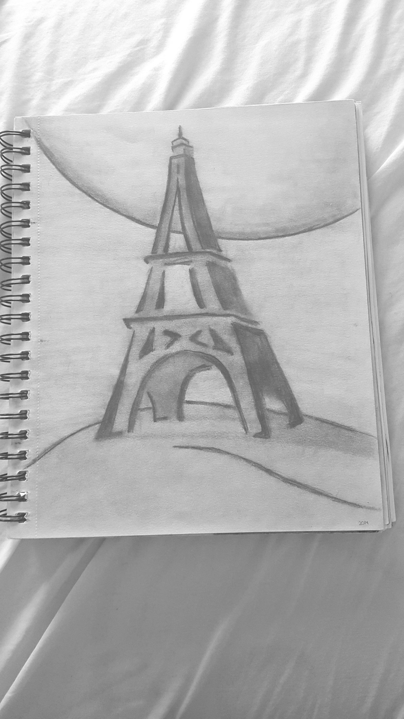 Finally made that drawing of the eiffeltower paris drawing
