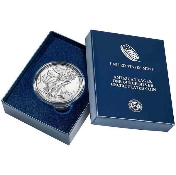2014 American Silver Eagle Uncirculated with original box and COA