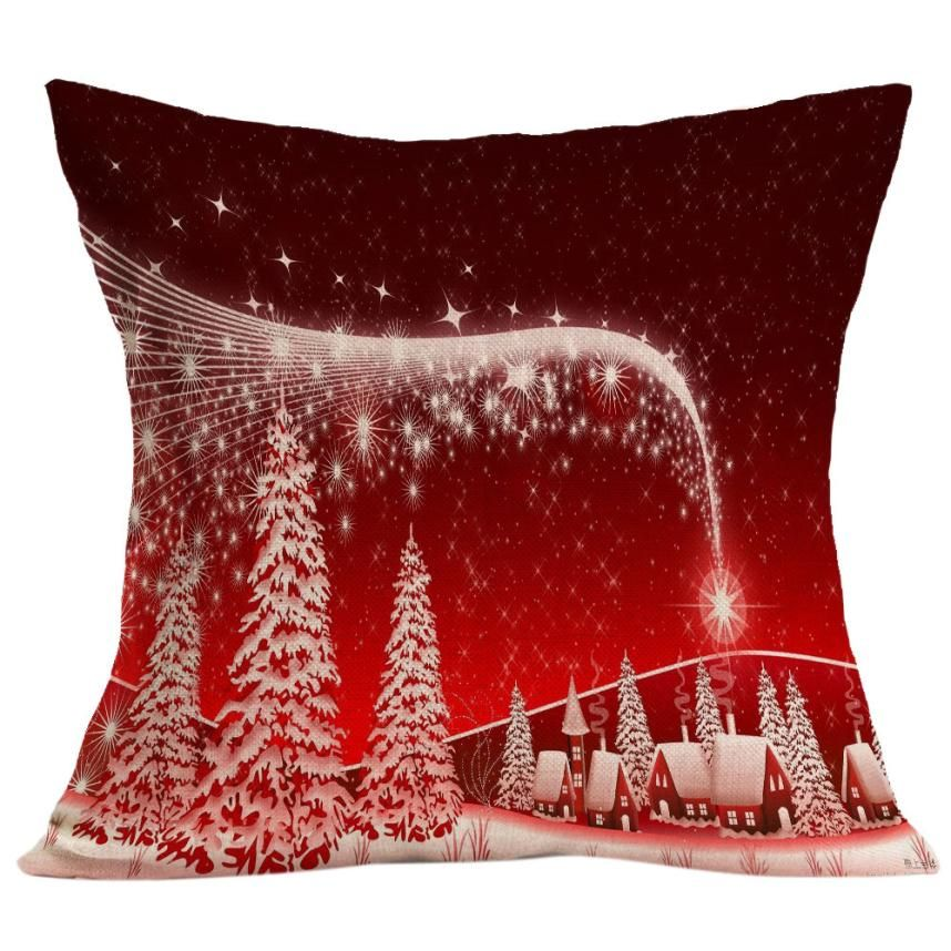 2017 Christmas Snowman Mermaid Sequin Cushion Cover Magical Pink Throw Pillowcase Color Changing Reversible Pillow Case