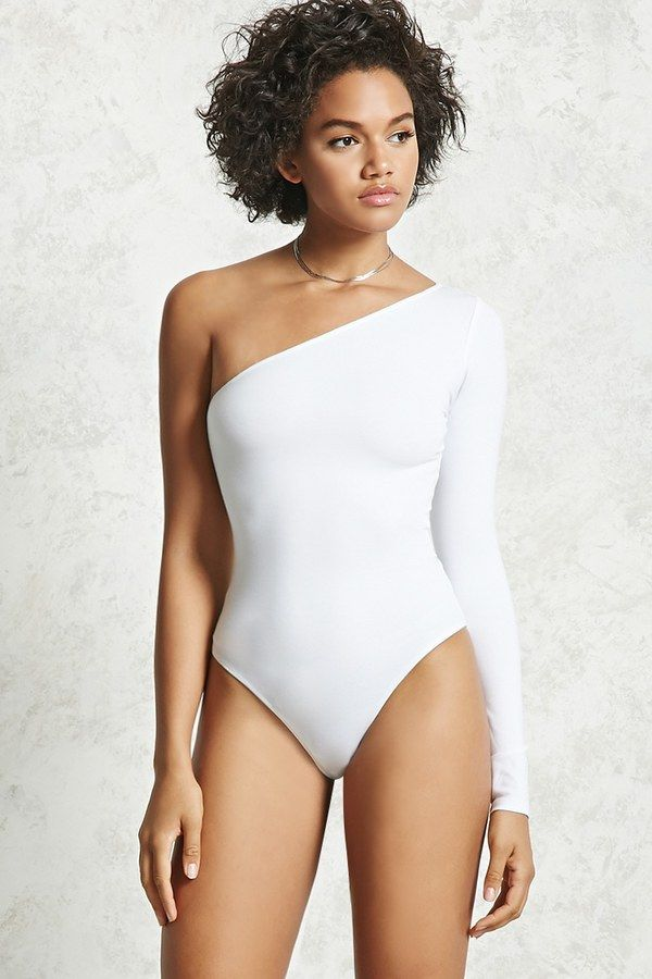 5cd72e1fab FOREVER 21+ One-Shoulder Bodysuit | All White Everything in 2019 ...