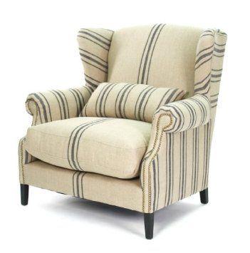 Amazon Com Zentique Cf076l002c015 Napoleon Half Wingback Chair