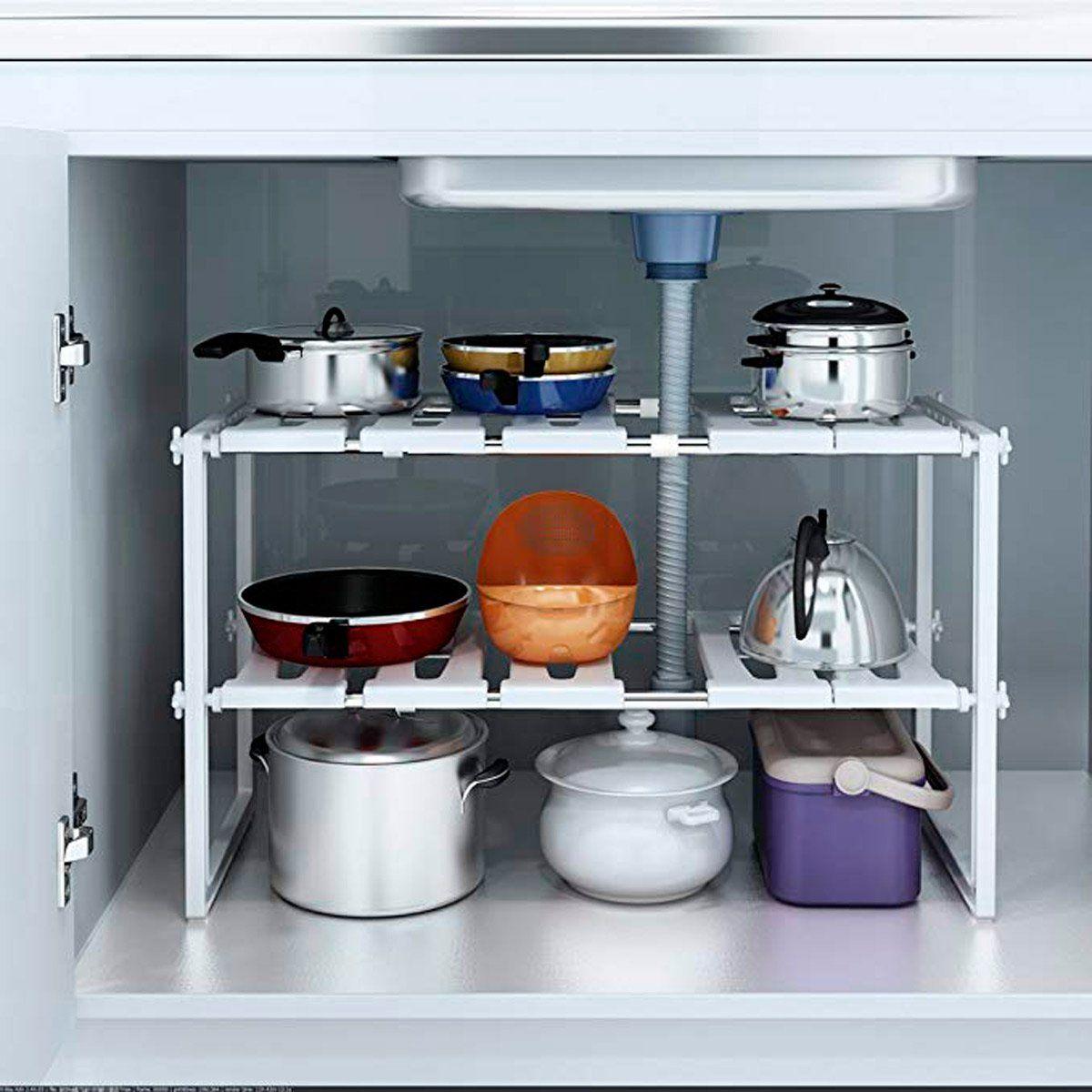 20 Compact Kitchen Organizers Under 20 Kitchen Sink Rack