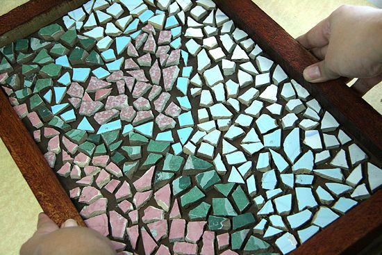 How To Make A Mosaic From Broken Tiles Mosaic Tiles Crafts Mosaic Mosaic Diy