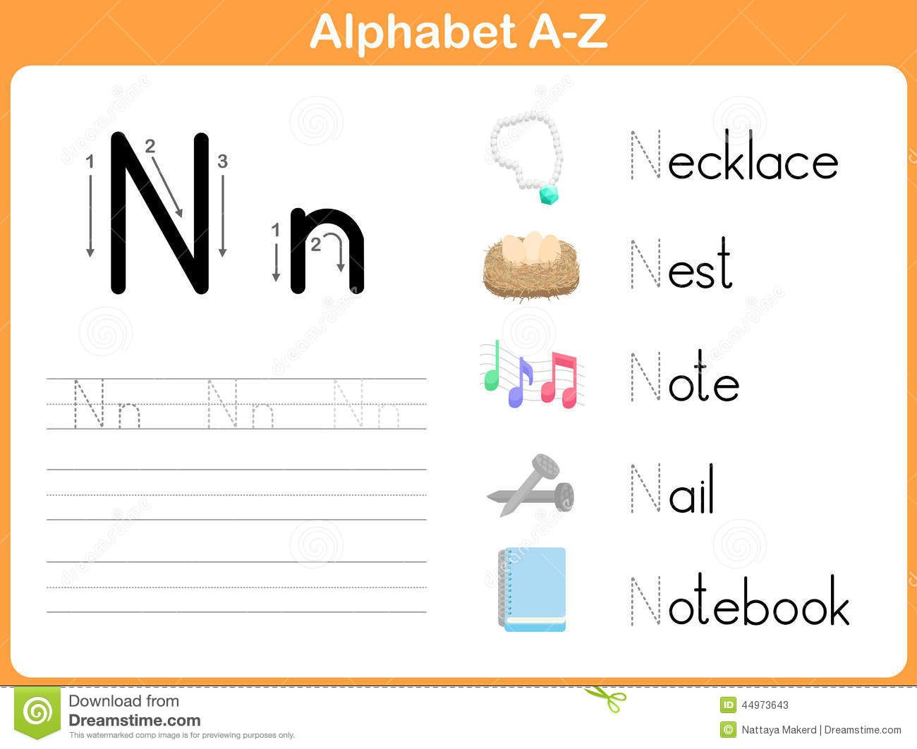 Alphabet Tracing Worksheet Writing A Z Stock Vector Image 44973643 Alphabet Tracing Worksheets Alphabet Worksheets Preschool Alphabet Tracing