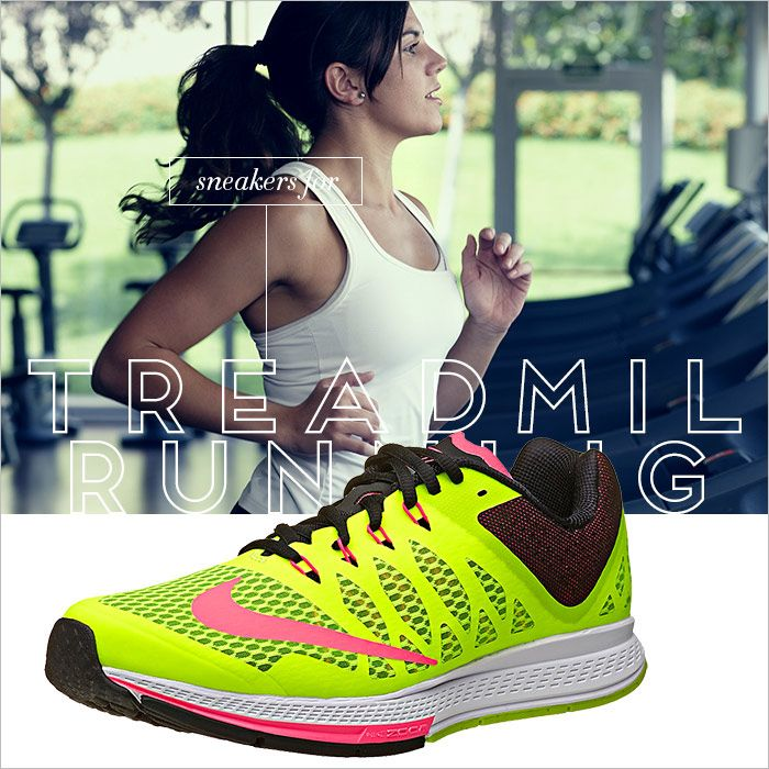 Sneakers for treadmill running