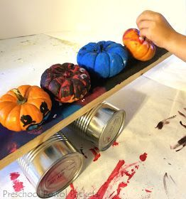 5 Little Pumpkins Preschool STEAM Science Experiment #scienceexperimentsforpreschoolers