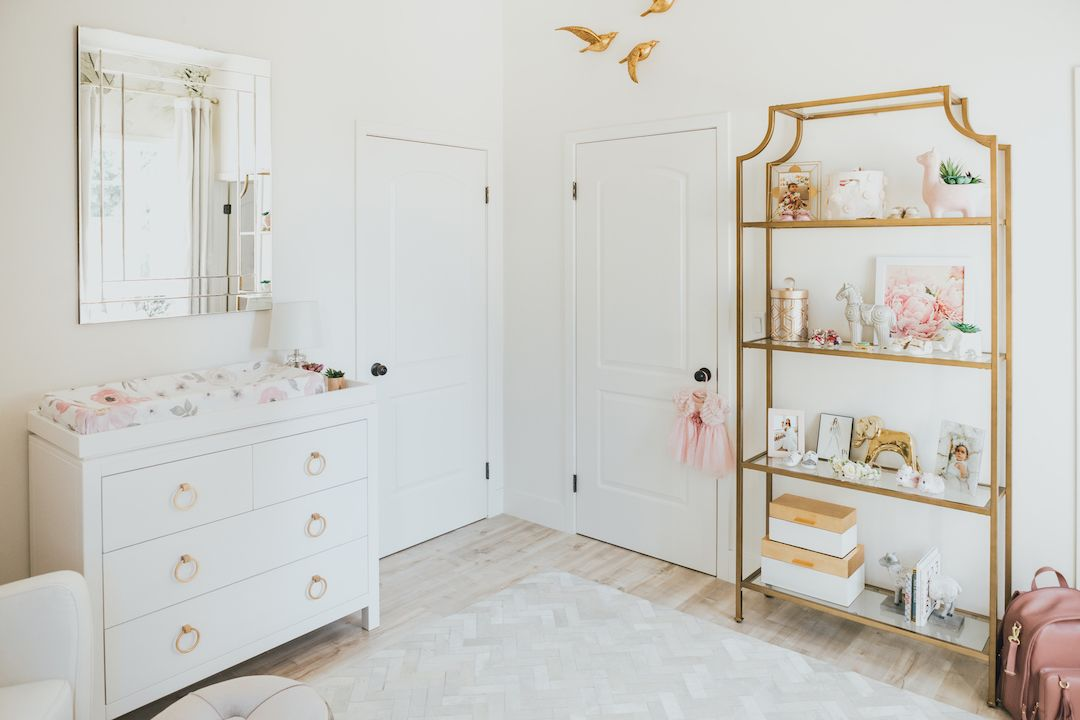 Jessi Malay S Gorgeous Floral Nursery Reveal Gold