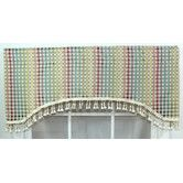 """Found it at Wayfair - RLF Home Cheque 50"""" Curtain Valance"""