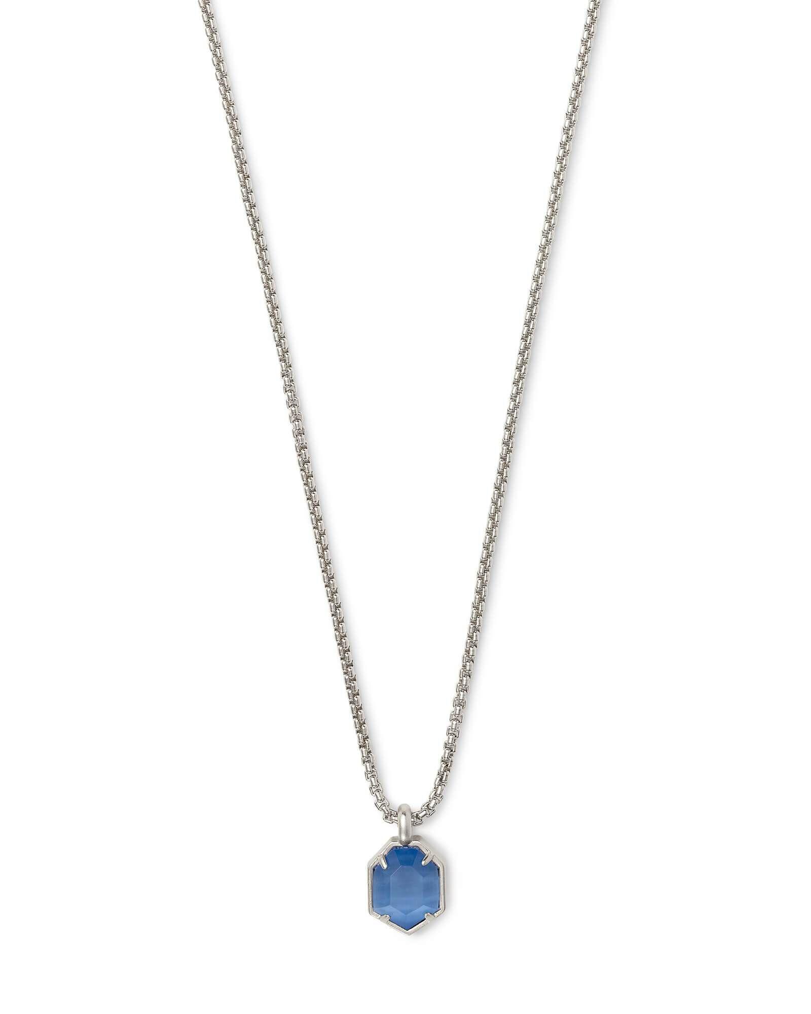 Kendra scott teo long silver necklace in periwinkle pinterest