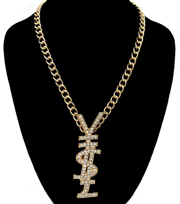 6febabd32af Short Gold YSL Metal Statement Chain · Dezon Le Blanc Boutique · Online  Store Powered by Storenvy