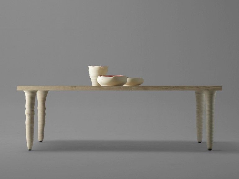 Rectangular oak and porcelain stoneware table FANG | Rectangular table - BD Barcelona Design