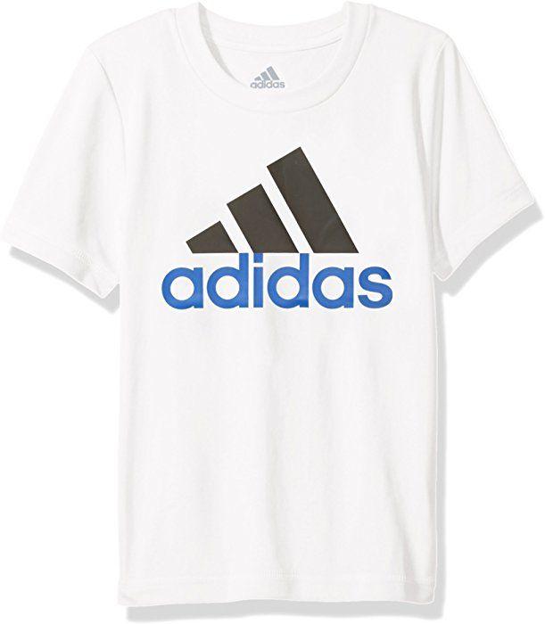de1f1420c8f8f Amazon.com: adidas Big Boys' Short Sleeve Logo Tee Shirt, White, M ...