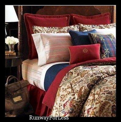 By Polo Ralph Lauren Bedding Full Comforter Set Leighton Tapestry