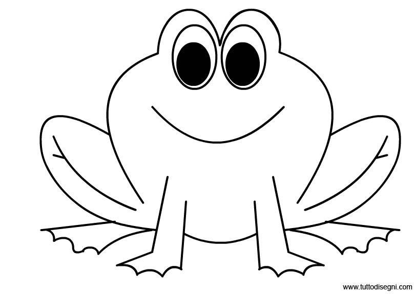 Frog Coloring Page Disegni Da Colorare Pagine Da Colorare
