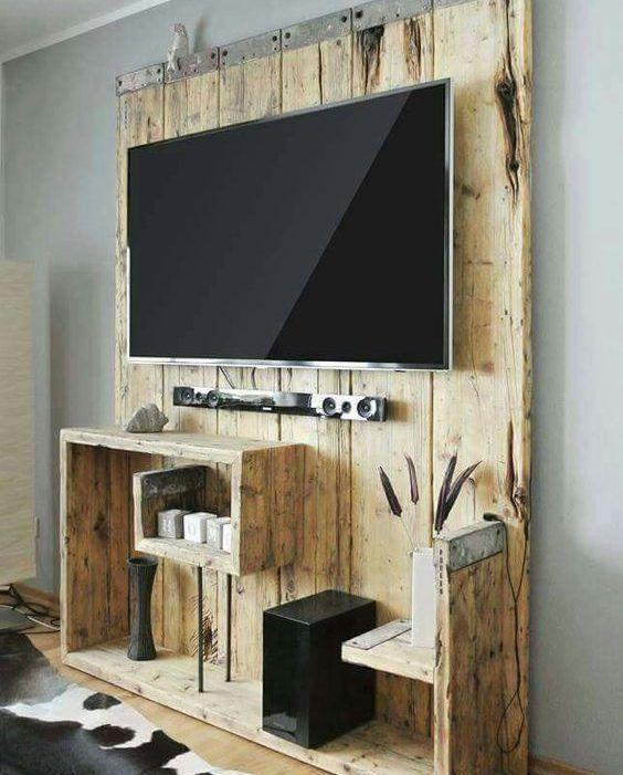 Idee Per Mobili Tv.Mobili Per Tv Fai Da Te Realizzati Con Bancali 20 Idee