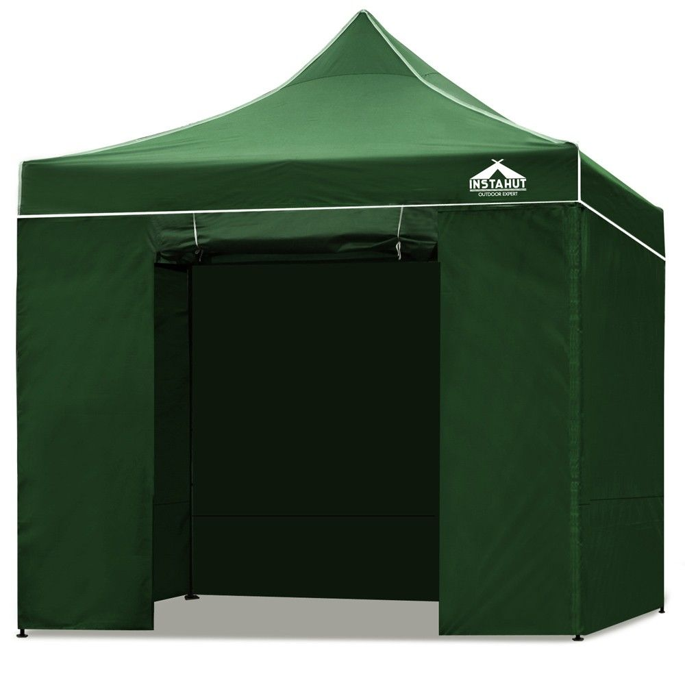 Pop Up Gazebo With Sides Sand Bags Outdoor Marquee Tent Canopy For Party Market Green 3m X 3m Family Tent Camping Tent Tent Camping