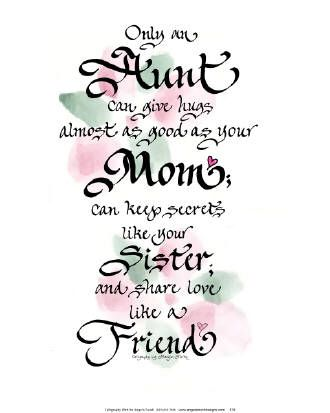 poems for aunts from nieces | AUNT POEMS | places in my mind ...