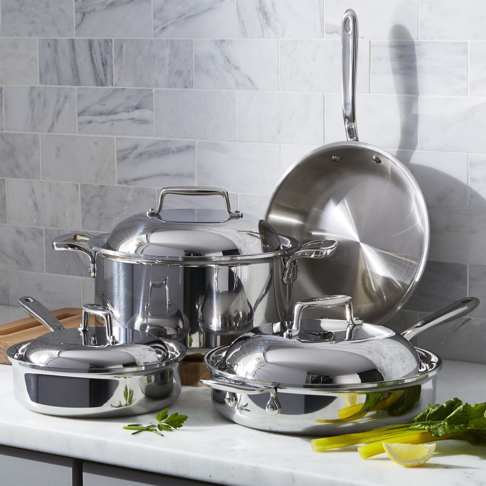 f945ab9aa5c1 All-Clad ® d7 7-Piece Cookware Set with Bonus - Crate and Barrel ...