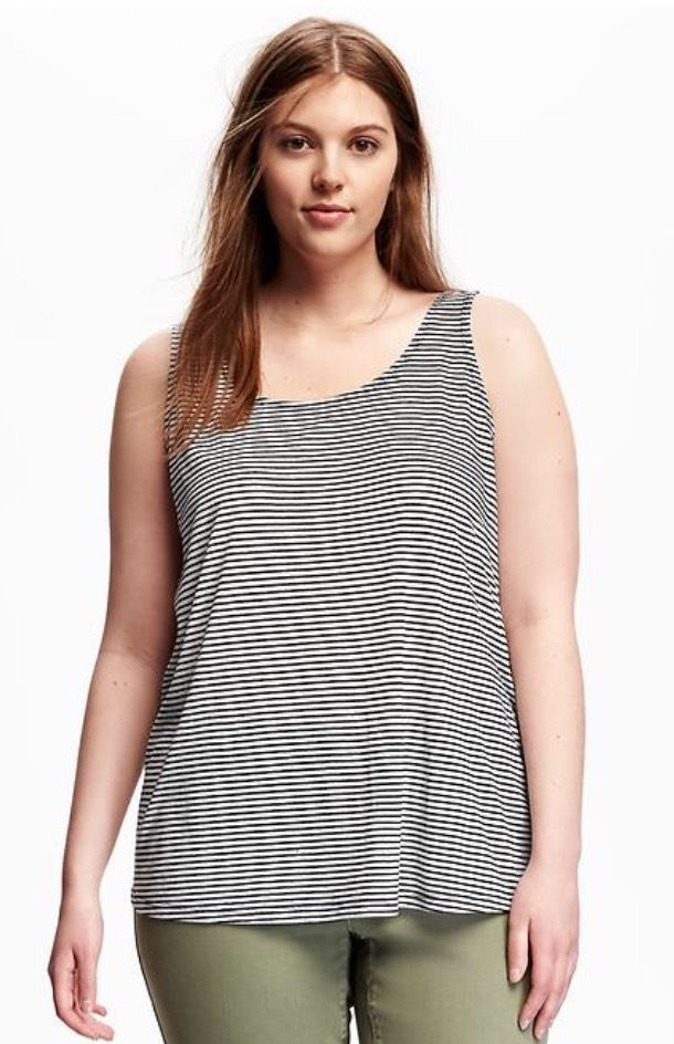 72c6488fcf4 NWT Old Navy Plus Size Women's Black Striped Scoop-Neck Tank Top 2X/3X  sizes #OldNavy #TankCami