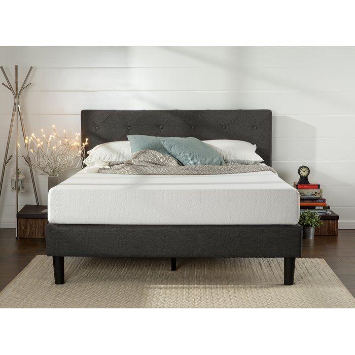 Rothbury Wingback Upholstered Platform Bed Upholstered