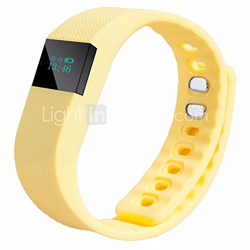 Active Gear Waterproof Activity Smart Bracelet  Band  Tracker Sleep Tracker Bluetooth Yellow >>> Click image to review more details.