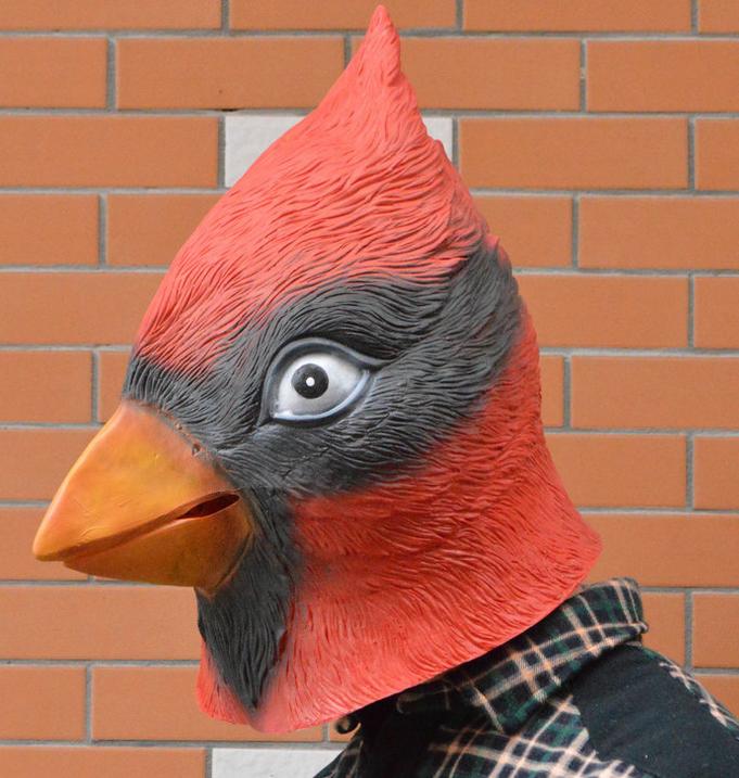 Cardinal Bird Mask