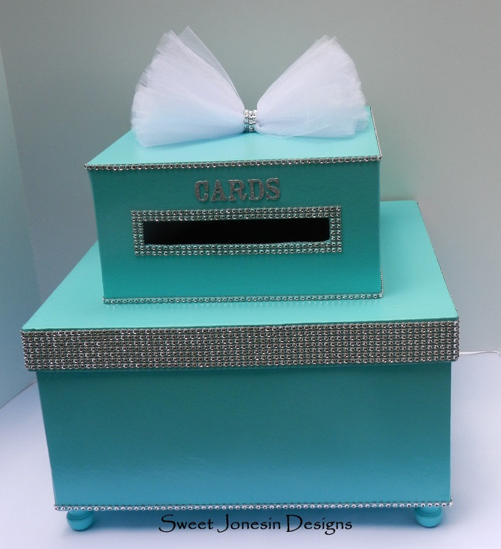 Wedding Card Box Bling Mesh Wrap Money Box Sweet Sixteen Baby