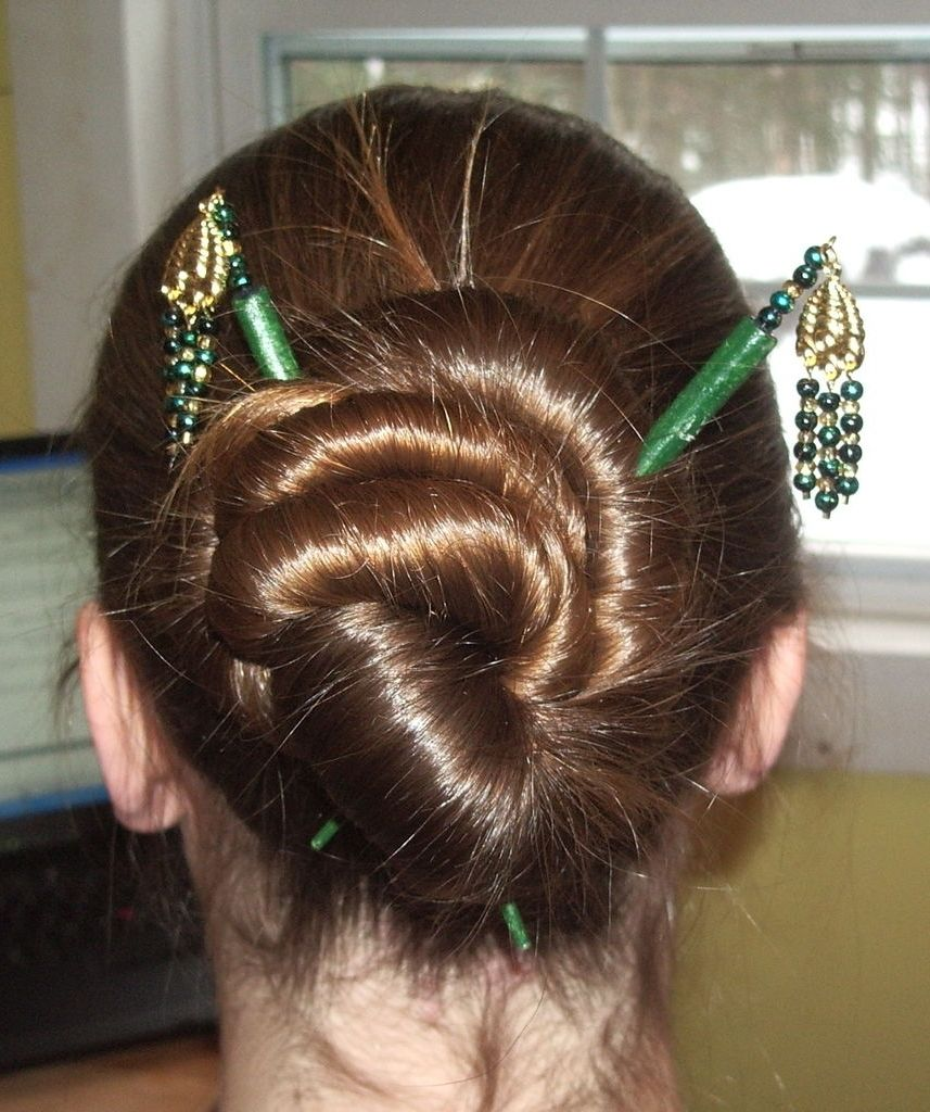 hairstyle made with chopsticks | trendy mods regarding