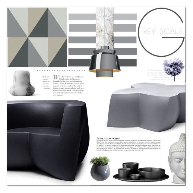 """""""grey scale"""" by senaa ❤ liked on Polyvore featuring interior, interiors, interior design, home, home decor, interior decorating, Cole & Son, INC International Concepts, Heller and &Tradition"""