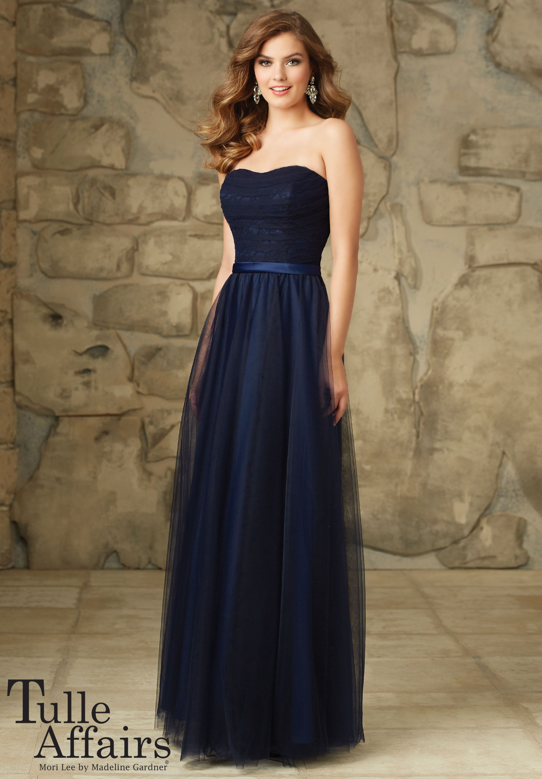 Bridesmaids Dress 116 - Tulle Affairs Lace and Tulle Satin Belt ...