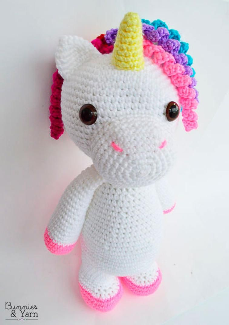 Mimi the Friendly Unicorn - Amigurumi | Stringsnthings | Pinterest ...