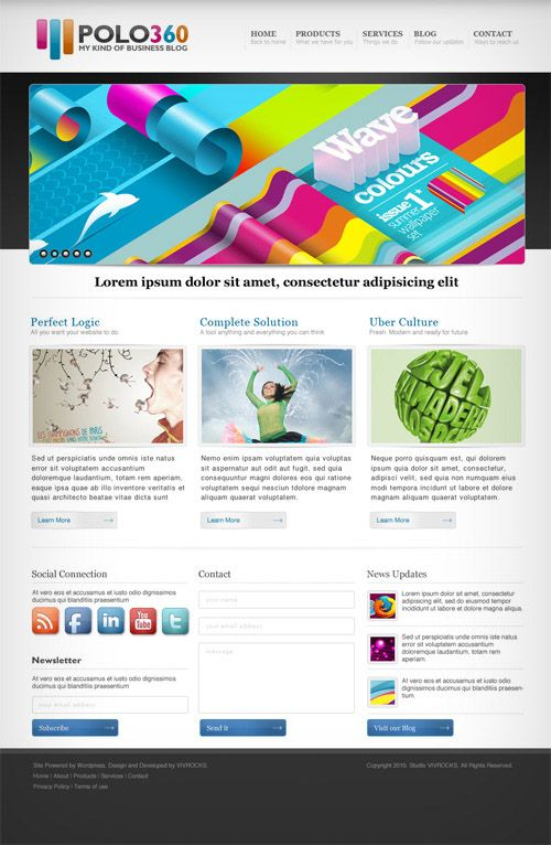 40 (Really) Beautiful Web Page Templates In Photoshop PSD | Books ...