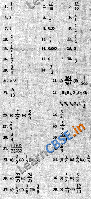 CBSE Board Papers Class 10 Maths probability #NCERT #